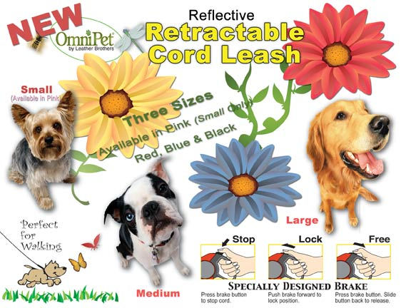 Reflective Retractable Cord Leash