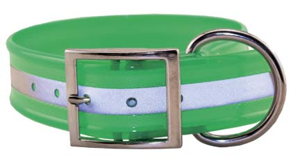 "SunGlo 1.5"" Wide Reflective Collars Green"