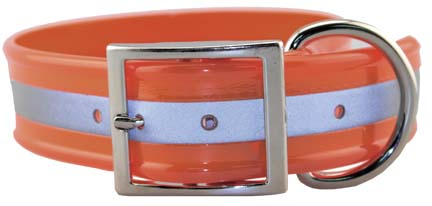 "SunGlo 1.5"" Wide Reflective Collars Orange"