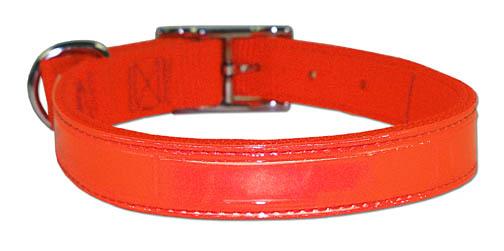 "1"" Regular Bravo Reflecto Neon Orange Dog Collar"