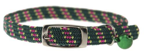 Pattern Stretch Cat Kwik Klip Collars with Bell 3914-GR