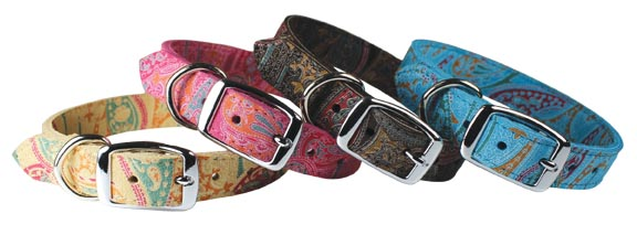 Paisley Suede Collars & Leads