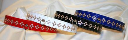 Designer Series Patent Leather Collars