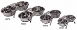 DOUBLE DINER with 2 STAINLESS STEEL BOWLS