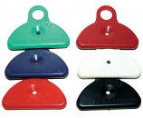 Plastic in six colors
